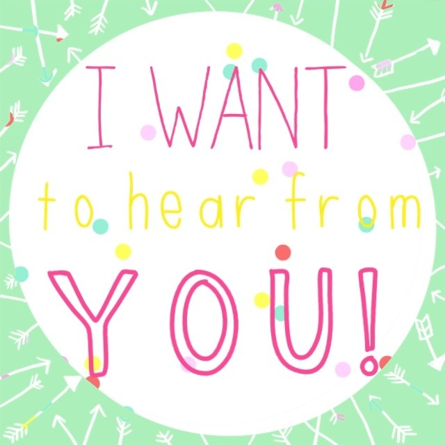 hear from you